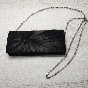 Charming Charlie Black Evening Clutch/Shoulder Bag